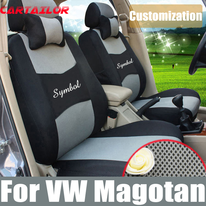CARTAILOR car seat cover for volkswagen magotan 2007 2012 seat covers interior accessories set mesh cover car seats supports