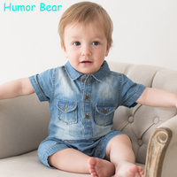 Humor Bear NEW Jumpsuits Baby Boy Clothing Cowboy Rompers Newborn Gentleman Style Casual Clothing Boy Clothes