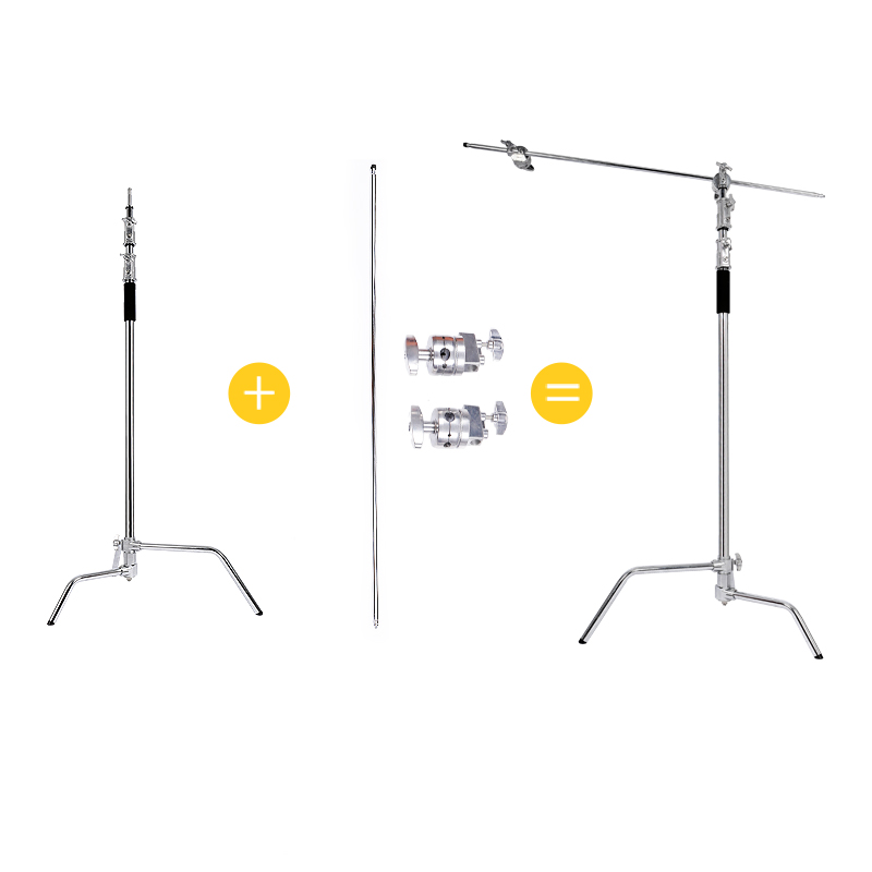 Professional Multi-function Photography Studio Heavy Lighting Century C Stand With Folding Legs Grip&Head&Arm Special Kit