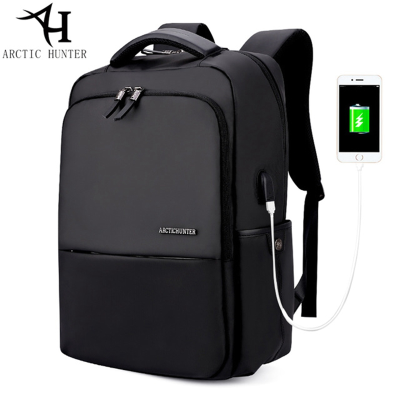 ARCTIC HUNTER Men USB charge Backpacks 15.6 inches Laptop waterproof Back pack Men Large Capacity Casual Bag arctic hunter design backpacks men 15 6inch laptop anti theft backpack waterproof bag casual business travel school back pack