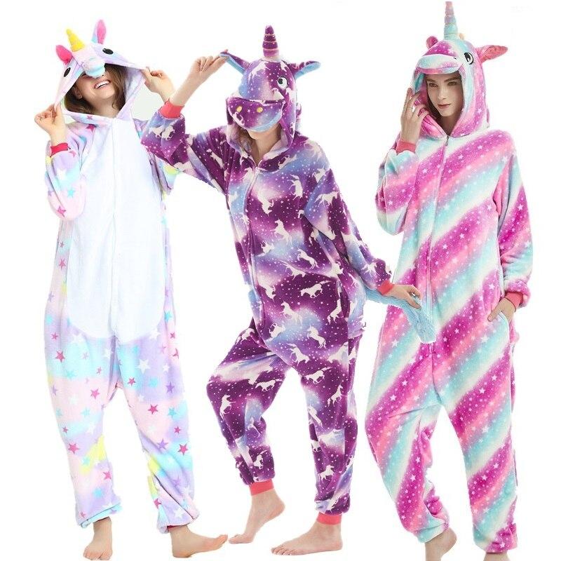 Wholesale Cosplay Adult   Pajamas   Autumn Winter Unicorn Panda Animal   Pajamas     Sets   For Women Men Cartoon Sleepwear Flannel Onsies