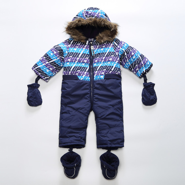 winter coveralls for boy 2016 baby boy snowsuit  children's clothing for boy windproof and waterproof ,winter rompers