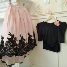 2014 New Elegant Short Prom Dresse Sexy Lace A Line pink Custom Made Evening Gowns Celebrity Dresses