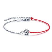 Adjustable Trendy Silver Plated Half Chain Half Rope Bracelets For Women Wedding Jewelry Charming Bracelet & Bangles