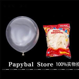 Image 2 - 12pcs 2.3g Pink White 2.8g Transparent Balloons Latex Helium Happy Birthday Party Supplies Baby Shower Wedding Decro Balls