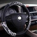 Volante de couro capa de proteção para o carro auto carro Eco friendly leopardo tampa da roda de direção LZH