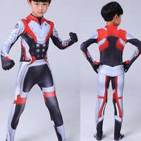 Avengers Endgame Quantum Kostuum Kids Volwassen Jongens Avengers Halloween Bodysuit Superheld Zentai Jumpsuit Quantum Rijk Cosplay
