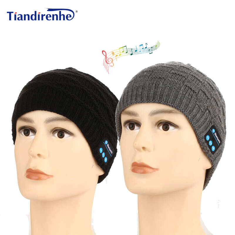 Tiandirenhe TD73 Wireless Bluetooth Hat Cap Headphone Headset Sport Music Soft Warm Hat Earphone with Mic for iPhone xiaomi lady s skullies womail delicate pregnant mothers soft velvet cap maternal prevention wind hat w7