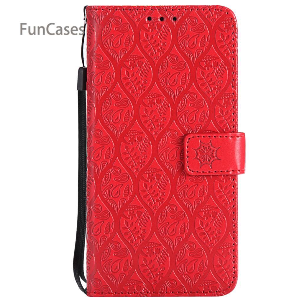 Plain Vine Flip Case sFor Celular Redmi 5 PU Leather Back Cover Portable Transparent Half Wrapped Case sFor Xiaomi Redmi 5 Phone