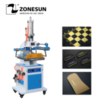 ZONESUN ZY 819M2 300*400mm LOGO Paper Leather Pneumatic Digital Hot Foil Stamping Embossing Creasing Machine Heat Press Machine