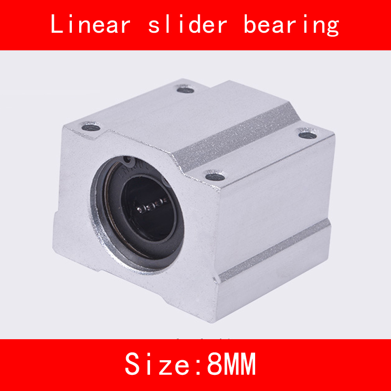 где купить 1 piece SCS8UU 8mm Linear Motion Ball Bearing slider Bushing Linear Shaft for CNC For 8mm Linear Shaft дешево