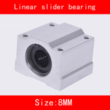 цена на 2 piece/lot SCS8UU 8mm Linear Motion Ball Bearing slider Bushing Linear Shaft for CNC For 8mm Linear Shaft