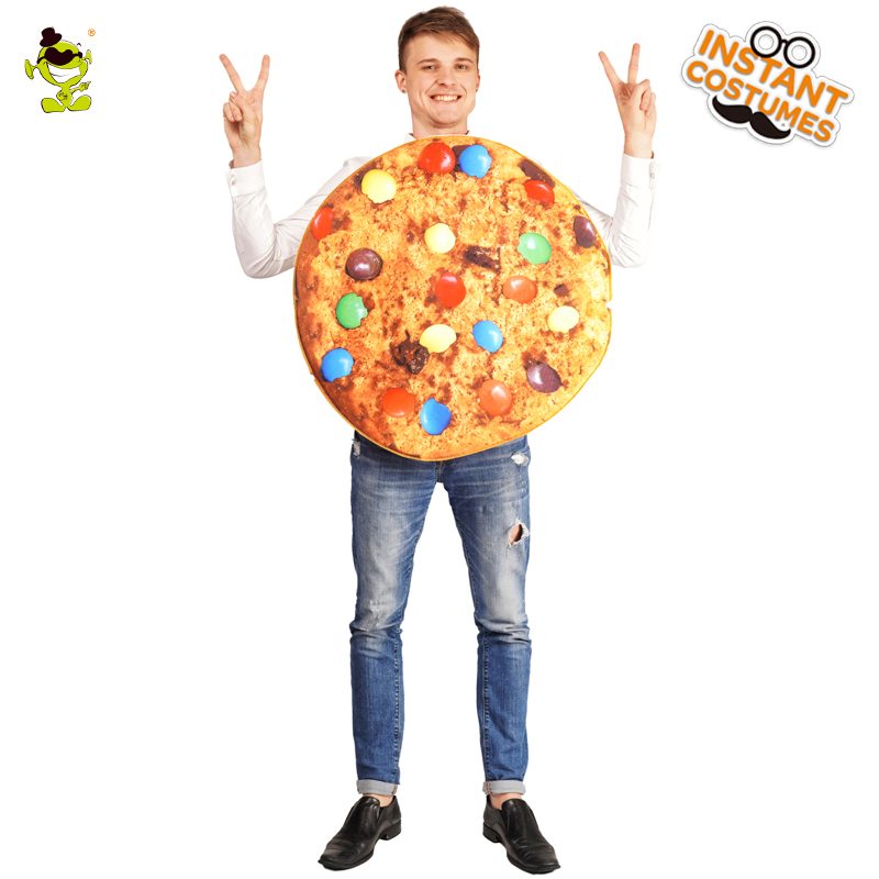 New Adult Unisex Candy Bean Cookie Costume Cosplay Purim Party Jumpsuit For Carnival Party Cosutme