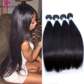 Indian Virgin Hair Straight 4 Bundles Indian Straight Hair 8A Unprocessed Virgin Straight Hair Weave 100% Human Hair Extensions
