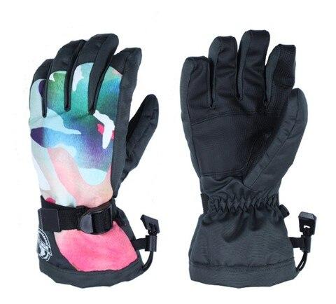 Luvas de Esqui Luvas de Equitação Luvas de Inverno ao ar Esportes à Prova Womens Rosa Camuflagem Dedos Completos Térmica Livre D10 Água 10 k