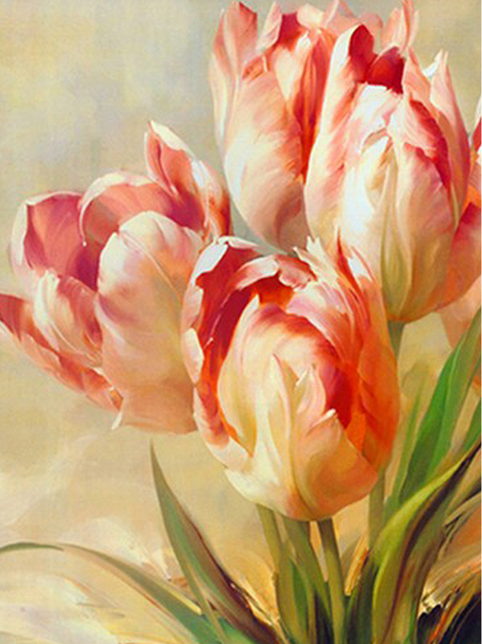 Online get cheap paintings tulips for Painting large flowers in acrylic