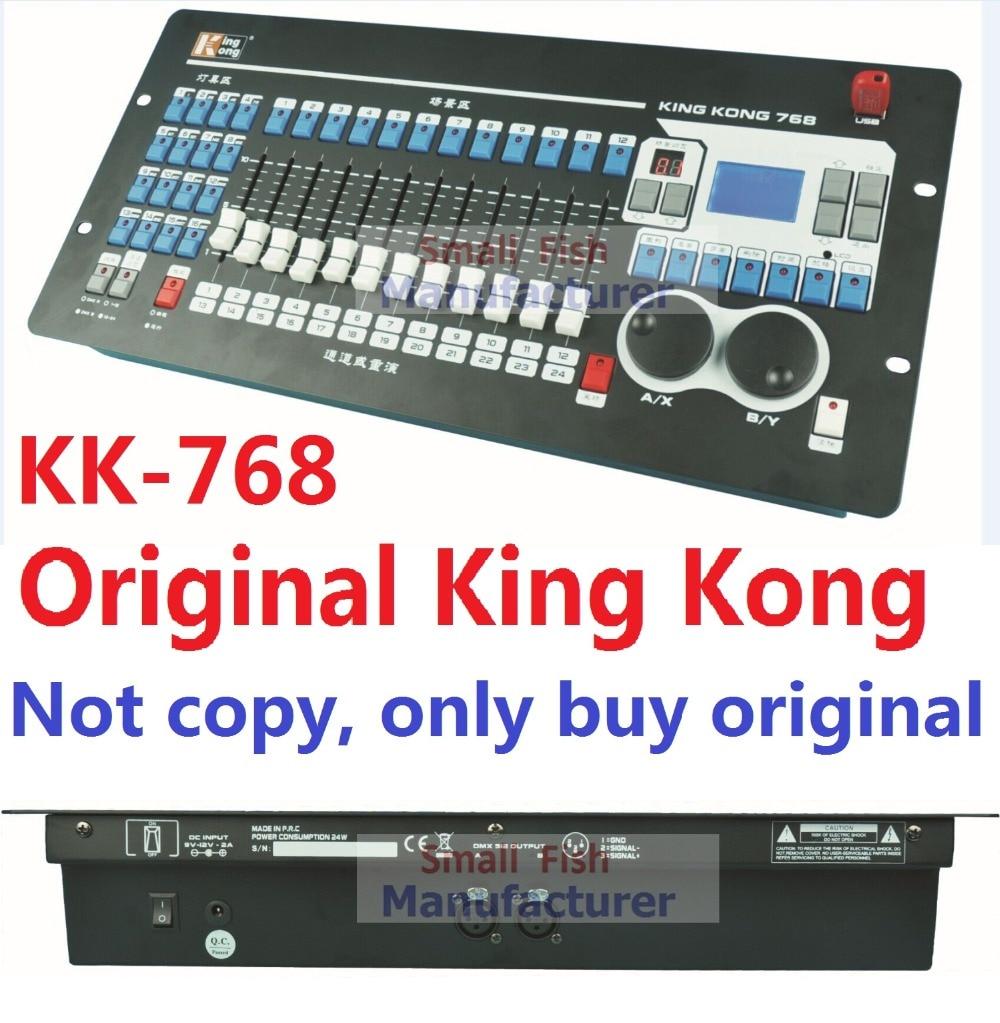 2016 kingkong kk-768 controlador DMX profesional 768 canales DMX incorporado 135 gráficos etapa Iluminación 512 DMX consola equipo