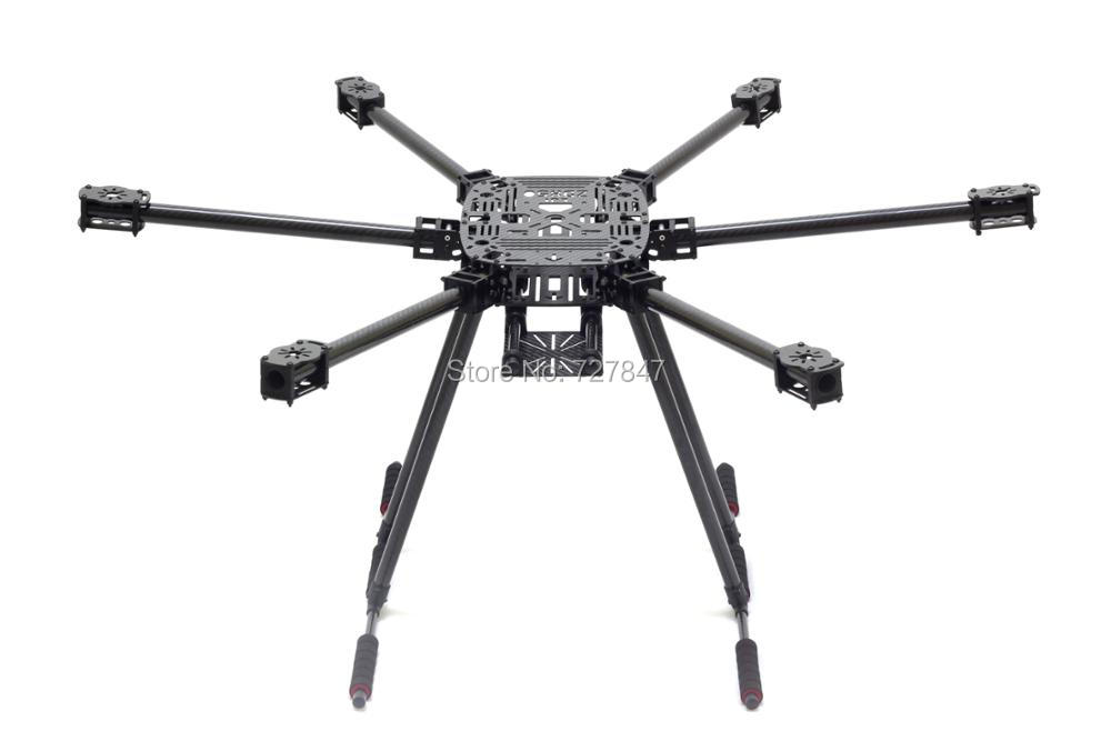 ZD850 fibre de carbone ZD 850 cadre Hexa-Rotor bras pliable Kit de cadre Hexacopter avec train d'atterrissage pliable pour FPV