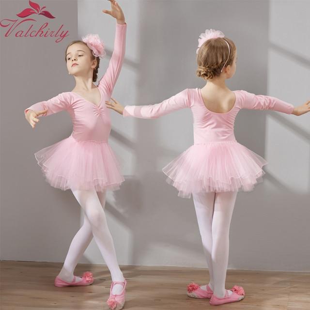 01eb514c9 Meninas Vestido de Ballet Tutu de Dança Roupas De Treinamento Crianças Saia  Princesa Trajes de Ginástica