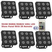 LED Par Light 9X4W RGBW RGBUV 4IN1 LED Show Panel Flat Par Can Beam Wash DJ