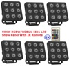 LED Par Light 9X4W RGBW RGBUV 4IN1 LED Show Panel Flat Par Can Beam Wash DJ