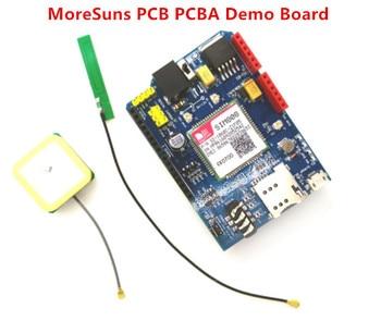 Free Ship 10pcs  High Quality SIM808 GPRS/GSM+GPS Shield 2 in 1 Shield GSM GPRS GPS Development Board SIM808 Module for Arduino