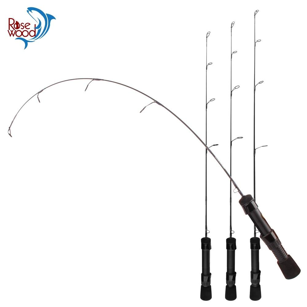 RoseWood-SEAL Series Ice Fishing Spinning Rod Ultra-Light, Light, Medium-Light Mini 1Sec Winter Fishing Pole 61cm 63.5cm 66cm
