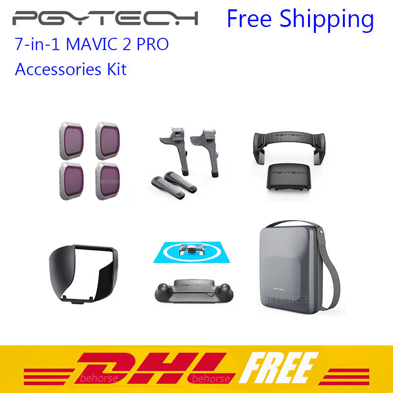 7 in 1 PGYTECH Mavic 2 Pro Accessory kit DJI Mavic 2 ND Filter Case bag