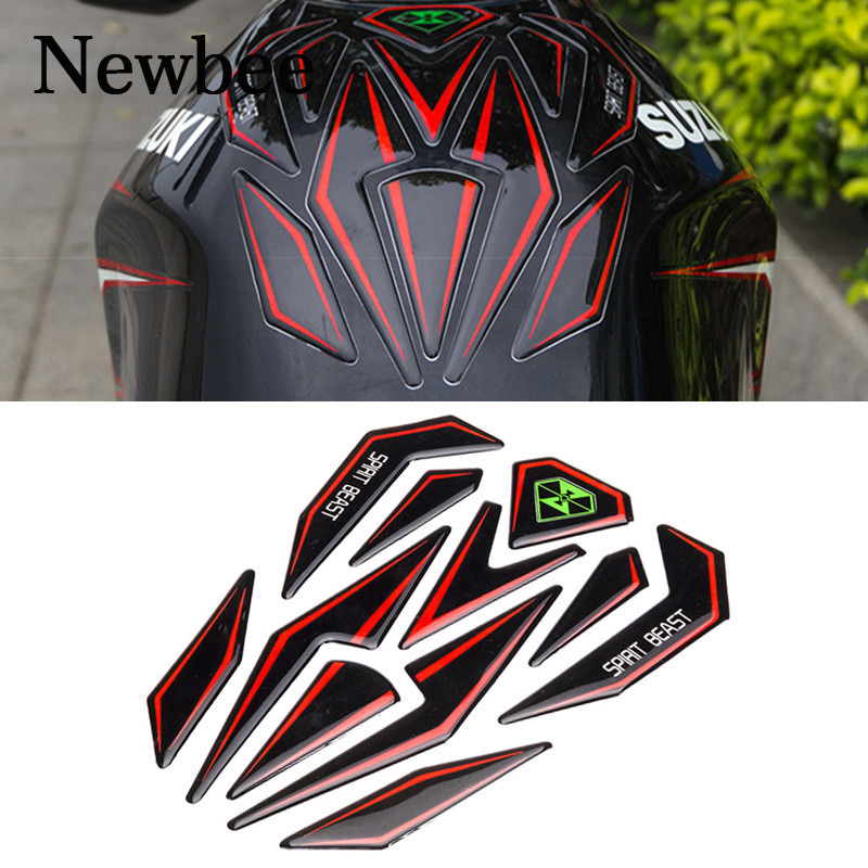 Newbee Reflective 3d Motorcycle Sticker Moto Gas Fuel Tank