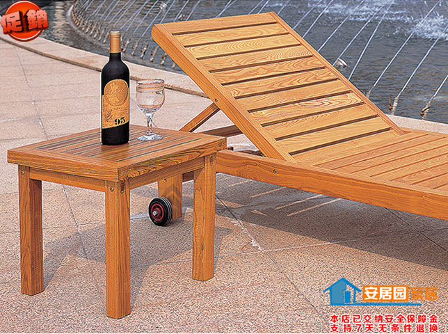 Outdoor Recreation Garden Courtyard Two Wooden Folding Deck Chairs Lying Bed Beach Pool Balcony Bathroom Off Loungers In Sun From