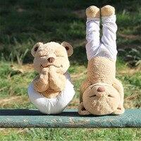 Yoga Ayı Peluş Oyuncak Yaratıcı Sevimli Yoga Teddy Bear Bebek Yumuşak Hayvan Çocuk Oyuncakları Doğum Günü Hediye Onu Ve Arkadaşlar