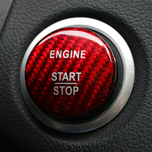 For Mercedes Benz A B C GLC GLA CLA ML GL Class W176 W246 W205 X253 X156 C117 Engine Start Button Carbon Fiber Cover Car Styling
