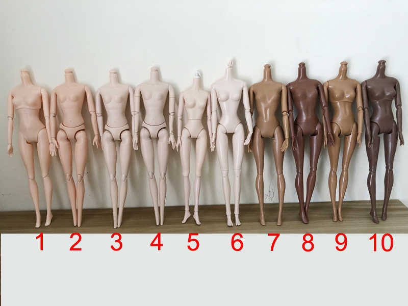 29cm Doll Nude Body Joints Doll Naked Body 11,12,16 Jointed Moveable Doll Body For 1/6 Doll Body for Girls Toys