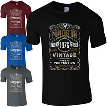 Made in 1976 T-Shirt Born 42nd Year Birthday Age Present Vintage Funny Mens Gift freeshipping
