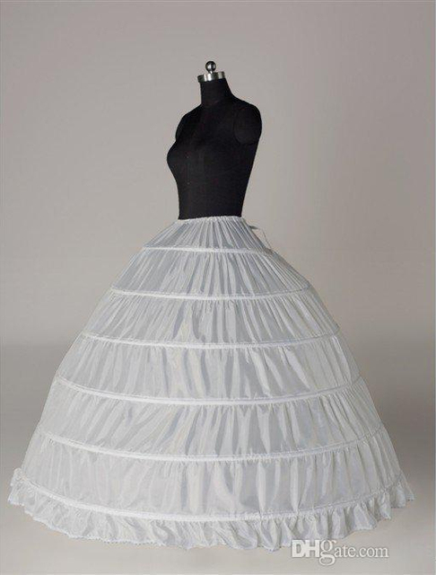 6b9dee42d8 Cheapest !! Free Shipping High Quality 6 Hoop Tulle Wedding Bridal  Petticoat Underskirt Crinolines for Wedding Dresses A006-in Petticoats from  ...