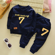 New 2016 Spring / Autumn cartoon child clothes set toddler lengthy sleeve garments fits sweatershirt fits boys T-shirt + pants