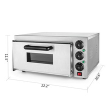 Stainless Steel Commercial 2000 W Electric Pizza Oven Single Deck Baking Machine 110V/50Hz