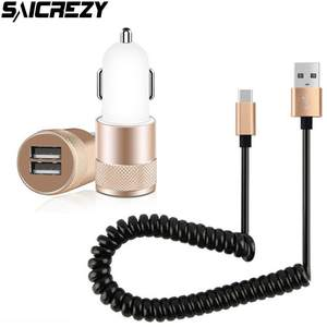 Car-Charger Spring-Cable S10e Samsung Galaxy Plus for A2-Core S10e/S10/S9/..