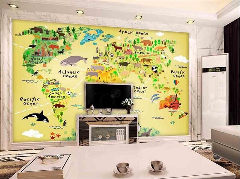 3d photo wallpaper custom kids mural room HD cartoon animal world map painting picture 3d wall murals wallpaper for walls 3d book knowledge power channel creative 3d large mural wallpaper 3d bedroom living room tv backdrop painting wallpaper