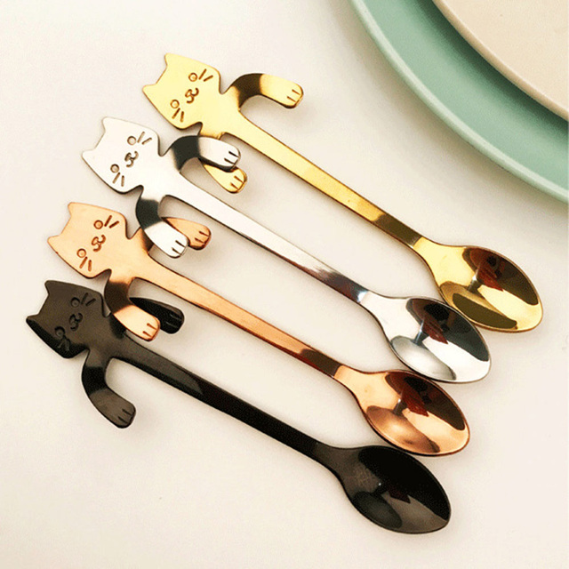 Mini Cat Coffee Tea Spoon