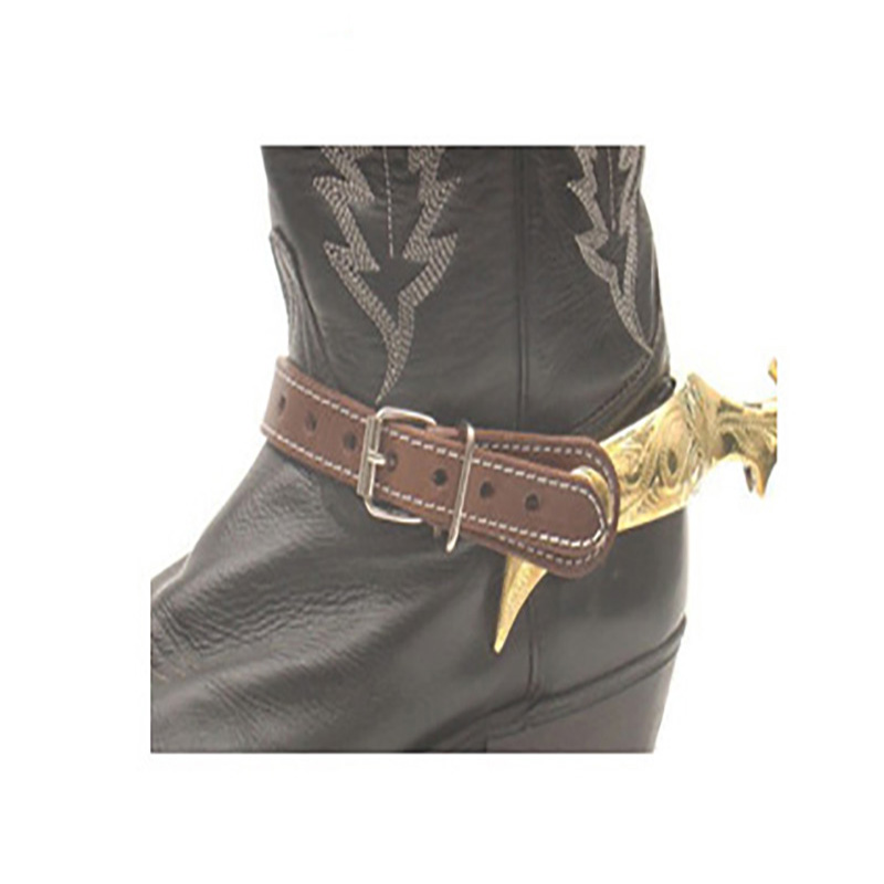 Riding Spurs Leather Strap Horse Riding Antique Western Hand Carved Spur Decorative Riding Boots Horse Racing Equipment Cavalo