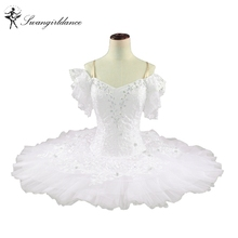 Adult White Swan lake classical ballet Tutu woman Snow White Professional Ballet Tutus with flowersBT9001