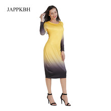 JAPPKBH Sexy Bodycon Summer Dress Women Fashion Casual Long Sleeve Office Ladies Dresses Elegant Slim Beach Party Dress Vestidos(China)
