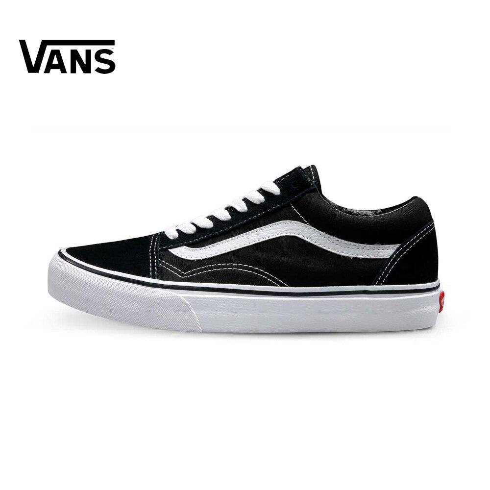 Оригинальные Vans Old Skool низкие классические унисекс Мужские и женские кроссовки для скейтбординга спортивная парусиновая обувь кроссовки
