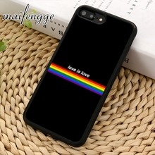 maifengge LGBT Rainbow Gay Pride One Love phone Case cover For iPhone 5 6s 7 8 plus 11 pro X XR XS max Samsung S7 edge S8 S9 S10(China)