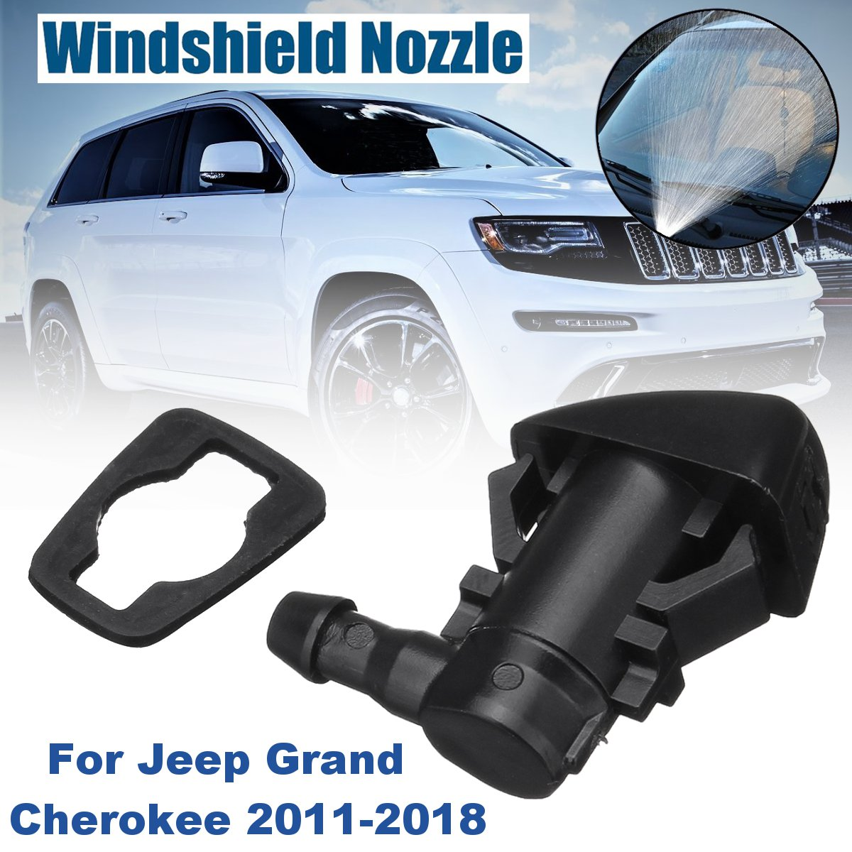 68260443AA 55372143AB Windshied Wiper Washer Spray Nozzle Replacement For Jeep Grand Cherokee 2011 2012 2013 2014 2015 2016 2018 image
