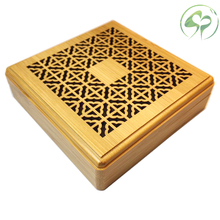 цены Bamboo Incenso Burners Sandal Incense Holder Round sandalwood Censer Classical Hollow Incense Lore Living Room Decor