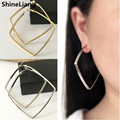 Earrings for women Ear clip No pierced wholesale fashion can be worn without holes ear ring exaggerated Korean nightclub square