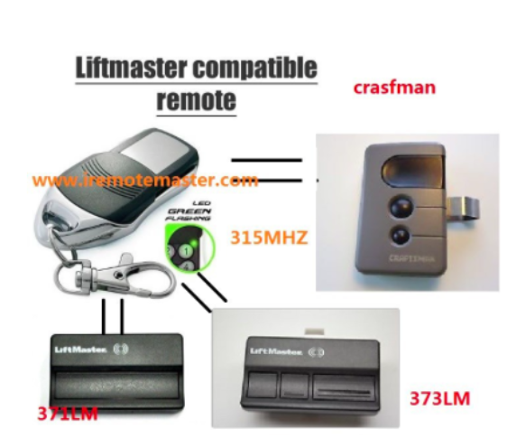 Replacement remote for LiftMaster 371LM 372LM 373LM Garage Door Opener Remote control Transmitter DHL free shipping after market avanti garage door remote control replacement opener transmitters with rolling code free shipping