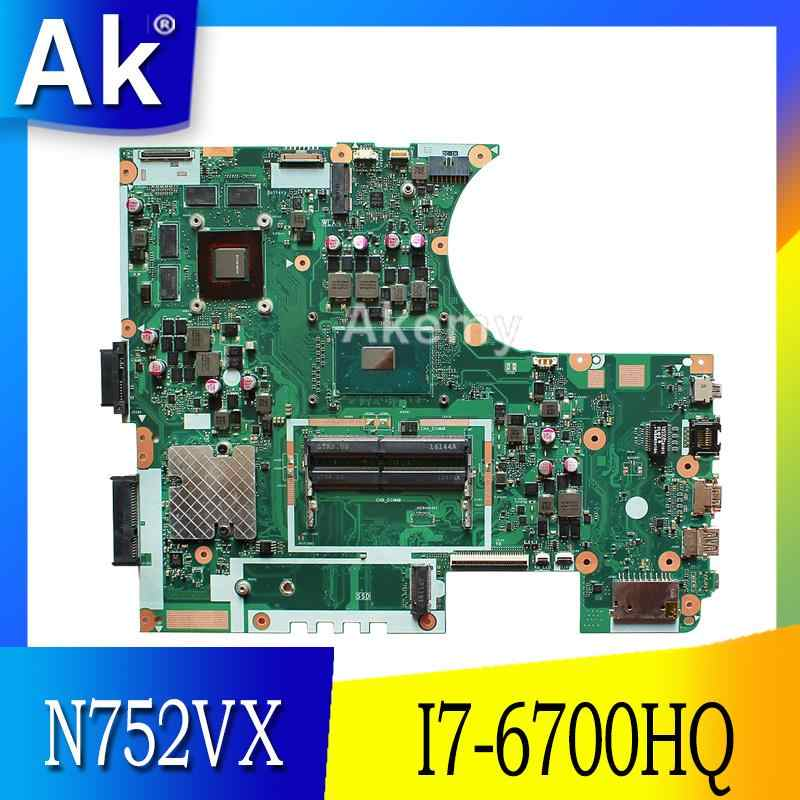N752VX MB. _ 0 M/I7-6700HQ/AS GTX950M N16P-GT-A2 материнская плата REV 2,0 для Asus N752V N752VX материнская плата для ноутбука DDR4 ram 100% протестирована